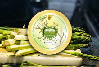 Nieuw: Aspargio kaas van de boerderij met asperges